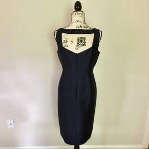 Talbots NWT all season silk & wool dress. Navy